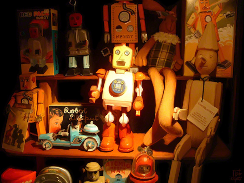 Robot Still Life<div style='clear:both;width:100%;height:0px;'></div><span class='desc'>Illustration</span>