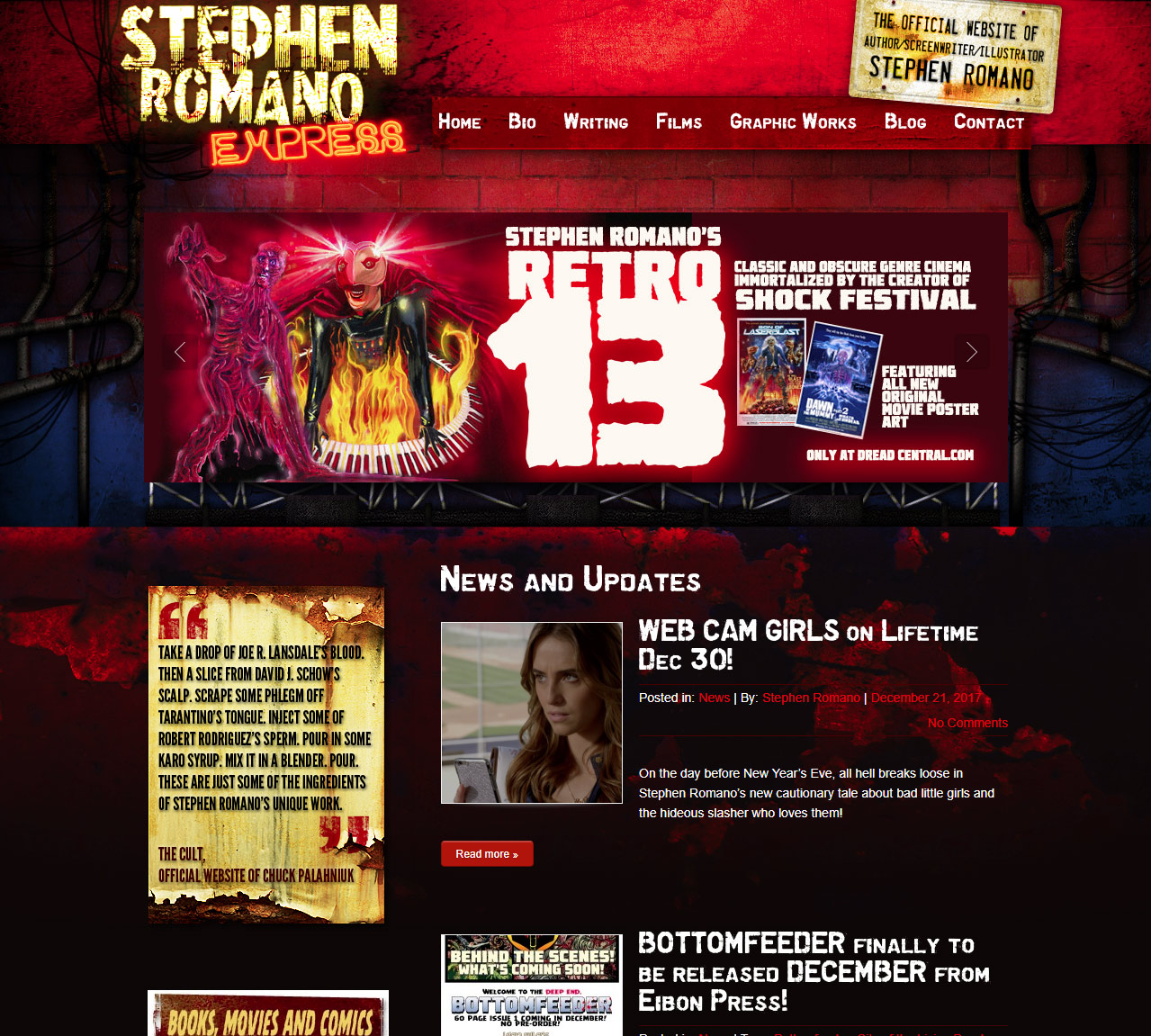 Stephen Romano Shock Festival<div style='clear:both;width:100%;height:0px;'></div><span class='desc'>Web Design / Development - Produced in collaboration with Black Rat Media</span>